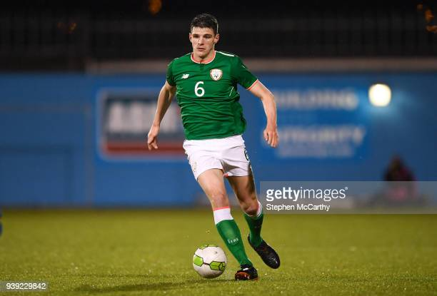 Dublin Ireland 27 March 2018 Declan Rice of Republic of Ireland during the UEFA U21 Championship Qualifier match between the Republic of Ireland and...