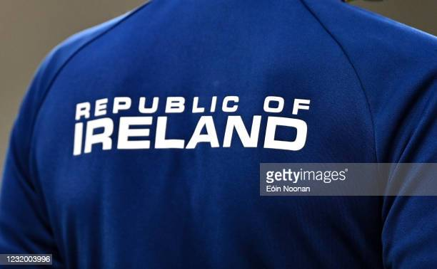 Dublin , Ireland - 27 March 2021; A detailed view of a Republic of Ireland jacket prior to the FIFA World Cup 2022 qualifying group A match between...