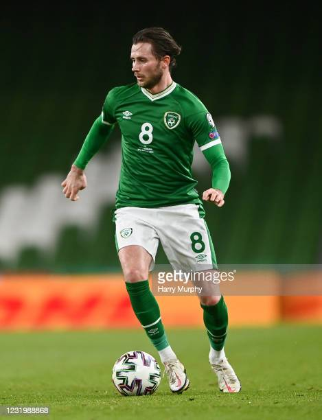 Dublin , Ireland - 27 March 2021; Alan Browne of Republic of Ireland during the FIFA World Cup 2022 qualifying group A match between Republic of...