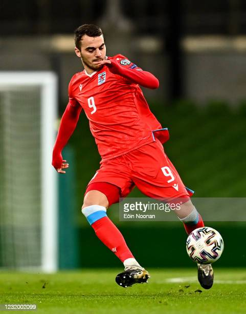 Dublin , Ireland - 27 March 2021; Christopher Martins of Luxembourg during the FIFA World Cup 2022 qualifying group A match between Republic of...