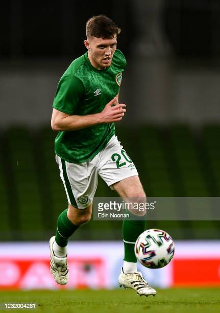 Dublin , Ireland - 27 March 2021; Dara O'Shea of Republic of Ireland during the FIFA World Cup 2022 qualifying group A match between Republic of...