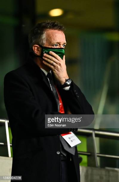 Dublin , Ireland - 27 March 2021; FAI Chief Executive Jonathan Hill during the FIFA World Cup 2022 qualifying group A match between Republic of...