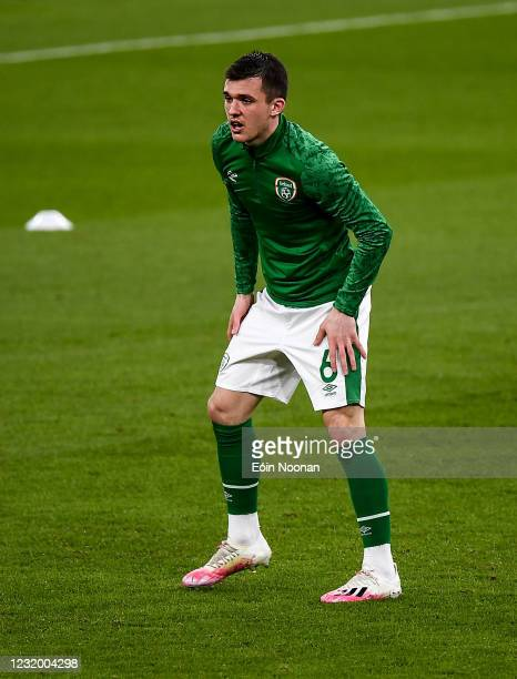 Dublin , Ireland - 27 March 2021; Jason Knight of Republic of Ireland during the FIFA World Cup 2022 qualifying group A match between Republic of...