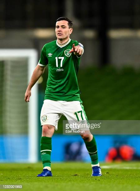 Dublin , Ireland - 27 March 2021; Josh Cullen of Republic of Ireland during the FIFA World Cup 2022 qualifying group A match between Republic of...