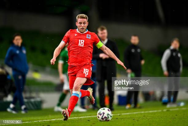 Dublin , Ireland - 27 March 2021; Laurent Jans of Luxembourg during the FIFA World Cup 2022 qualifying group A match between Republic of Ireland and...