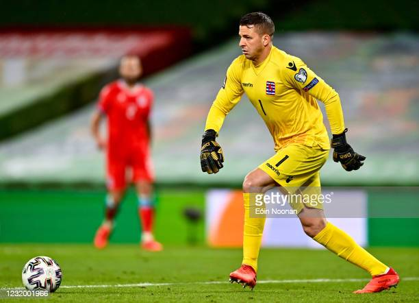 Dublin , Ireland - 27 March 2021; Luxembourg goalkeeper Anthony Moris during the FIFA World Cup 2022 qualifying group A match between Republic of...