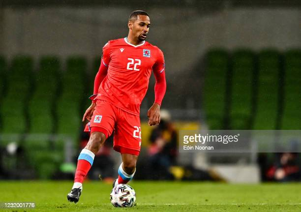 Dublin , Ireland - 27 March 2021; Marvin Martins of Luxembourg during the FIFA World Cup 2022 qualifying group A match between Republic of Ireland...