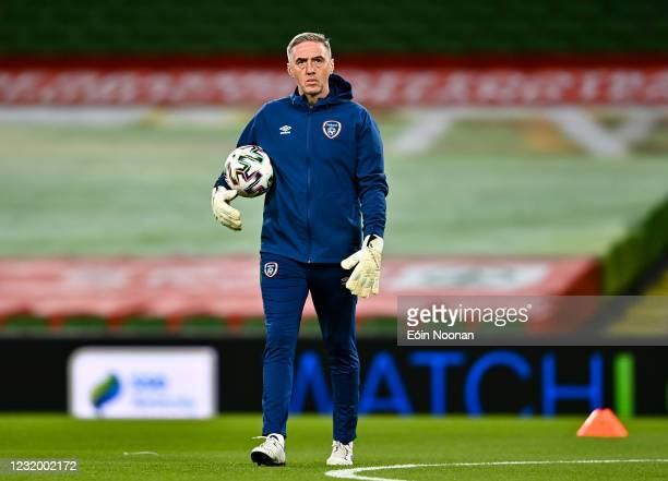 Dublin , Ireland - 27 March 2021; Republic of Ireland goalkeeping coach Dean Kiely prior to the FIFA World Cup 2022 qualifying group A match between...
