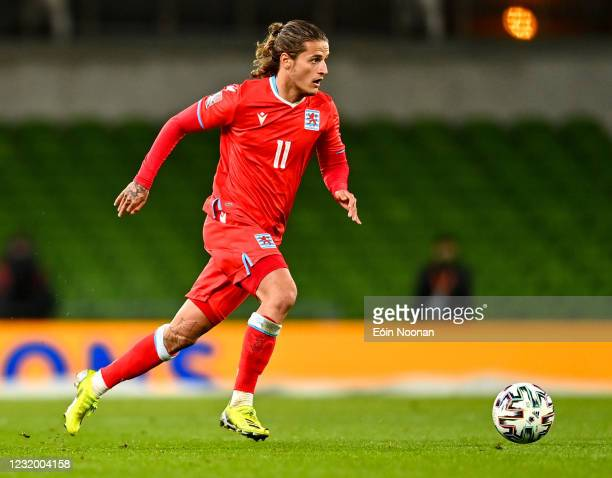 Dublin , Ireland - 27 March 2021; Vincent Thill of Luxembourg during the FIFA World Cup 2022 qualifying group A match between Republic of Ireland and...