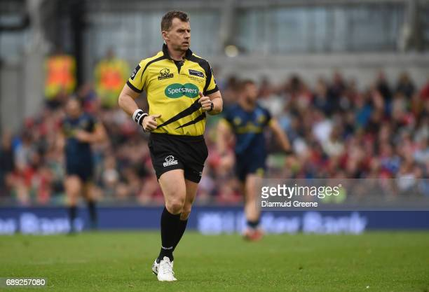 Dublin Ireland 27 May 2017 Referee Nigel Owens during the Guinness PRO12 Final between Munster and Scarlets at the Aviva Stadium in Dublin