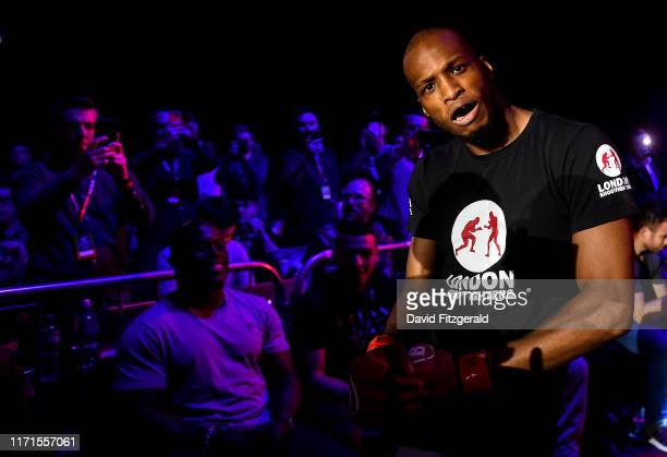 Dublin , Ireland - 27 September 2019; Michael Page enters the arena prior to his welterweight bout against Richard Kiely at Bellator Dublin in the...