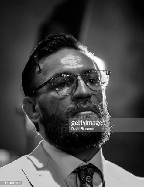Dublin Ireland 27 September 2019 UFC fighter Conor McGregor watches on during Bellator 227 in the 3Arena Dublin