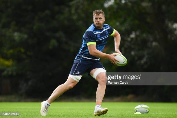 Dublin Ireland 28 August 2017 Leinster's Jamie Heaslip during squad training at UCD in Dublin
