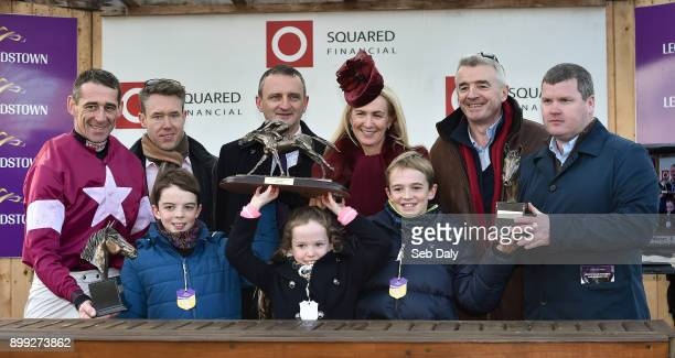Dublin Ireland 28 December 2017 Winning connections including Michael O'Leary and wife Anita with jockey Davy Russell left and trainer Gordon Elliott...