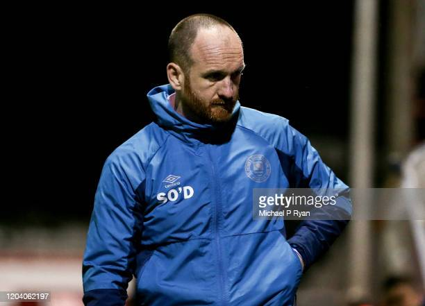 Dublin , Ireland - 28 February 2020; St Patrick's Athletic manager Stephen O'Donnell during the SSE Airtricity League Premier Division match between...