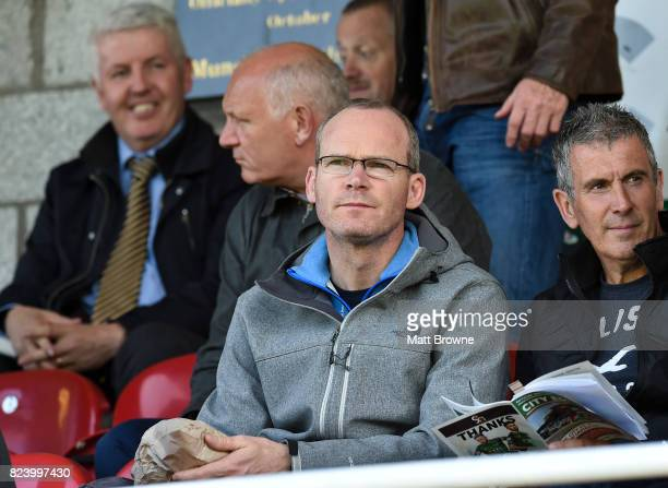 Dublin Ireland 28 July 2017 Minister for Foreign Affairs and Trade Simon Coveney TD in attendance at the game SSE Airtricity League Premier Division...