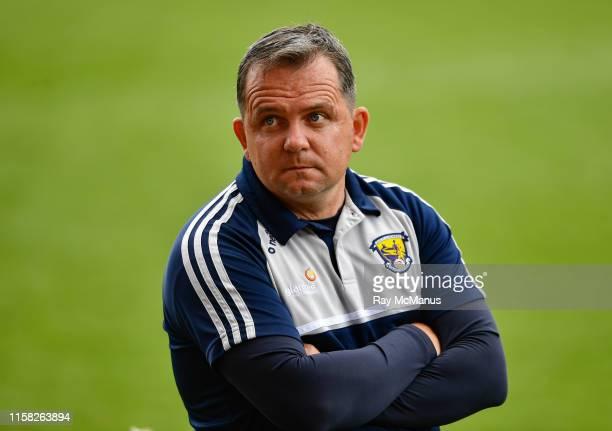 Dublin , Ireland - 28 July 2019; Wexford manager Davy Fitzgerald before the GAA Hurling All-Ireland Senior Championship Semi Final match between...