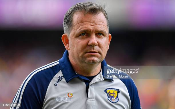 Dublin , Ireland - 28 July 2019; Wexford manager Davy Fitzgerald prior to the GAA Hurling All-Ireland Senior Championship Semi Final match between...