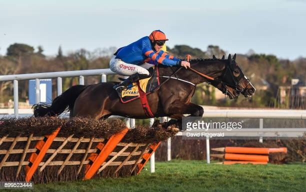 Dublin Ireland 29 December 2017 Mick Jazz with Davy Russell up jumps the last ahead of Cilaos Emery with David Mullins up on their way to winning the...