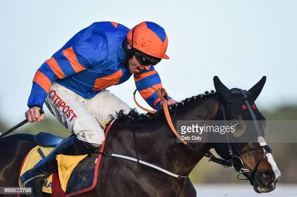 Dublin Ireland 29 December 2017 Mick Jazz with Davy Russell up on their way to winning the Ryanair Hurdle on day 4 of the Leopardstown Christmas...