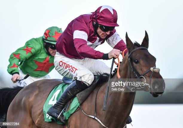 Dublin Ireland 29 December 2017 Mind's Eye with Davy Russell up on their way to winning the Top Oil Irish EBF Novice Handicap Hurdle on day 4 of the...