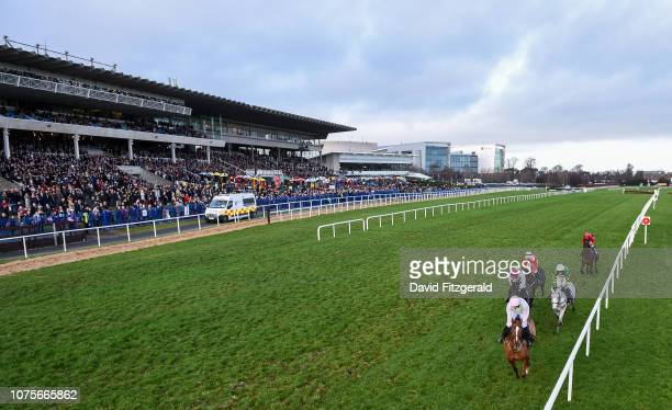 Dublin Ireland 29 December 2018 Runners and riders on their first time round during the Advent Insurance Irish EBF Mares Hurdle during day four of...