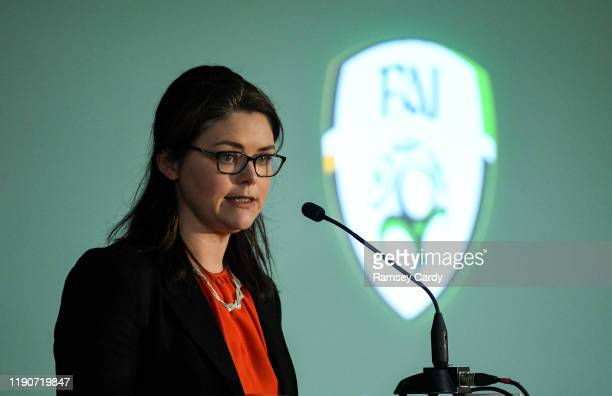 Dublin , Ireland - 29 December 2019; FAI Chief Operating Officer Rea Walshe during the FAI Annual General Meeting at the Citywest Hotel in Dublin.