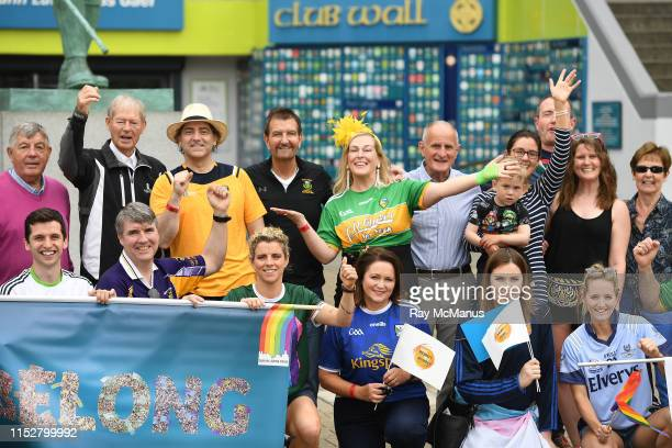 Dublin , Ireland - 29 June 2019; A group including Michael 'Babs' Keating with singer-songwriter and author Brian Kennedy, Alan Kelly, comedian...