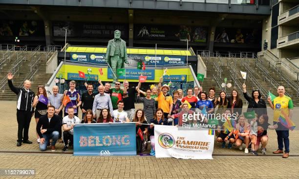 Dublin , Ireland - 29 June 2019; A group including Paul Flynn, Chief executive of the Gaelic Players Association, former Cork GAA star Valerie...