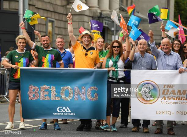 Dublin , Ireland - 29 June 2019; Former Ladies Football All Star Valerie Mulcahy, inter county GAA referee David Gough, comedian Katherine Lynch,...