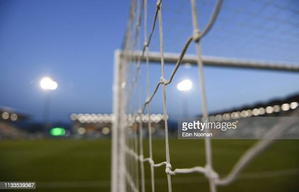 Dublin Ireland 29 March 2019 A detailed view of goal netting in Tallaght Stadium ahead of the SSE Airtricity League Premier Division match between...