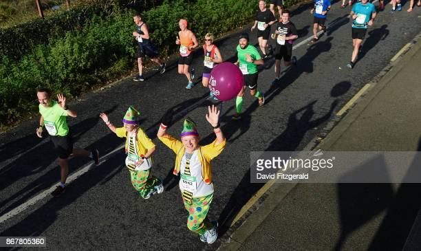 Dublin Ireland 29 October 2017 Lara Zanetti Windegger left and Hubert Windegger both from Switzerland make their way out of Pheonix Park during the...