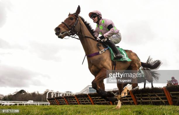 Dublin Ireland 3 February 2018 Faugheen with Paul Townend up on their first time round during the BHP Insurance Irish Champion Hurdle during Day 1 of...