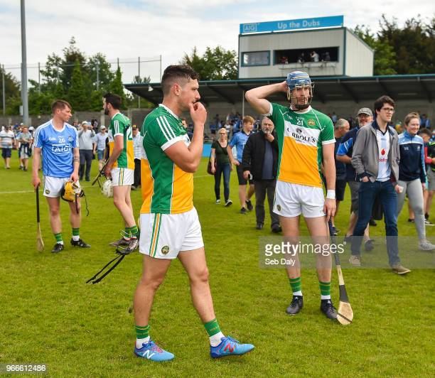 Dublin Ireland 3 June 2018 David King left and James Gorman of Offaly following their side's defeat during the Leinster GAA Hurling Senior...