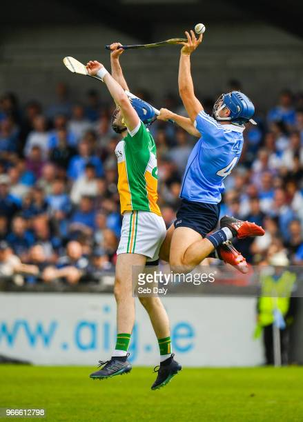 Dublin Ireland 3 June 2018 Eoghan ODonnell of Dublin in action against James Gorman of Offaly during the Leinster GAA Hurling Senior Championship...