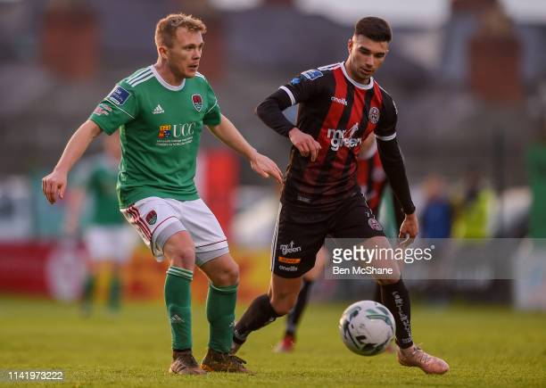 Dublin , Ireland - 3 May 2019; Conor McCormack of Cork City in action against Darragh Rainsford of Cork City during the SSE Airtricity League Premier...