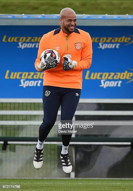 Dublin Ireland 3 October 2016 Darren Randolph of Republic of Ireland during squad training at the FAI National Training Centre in Abbotstown Dublin