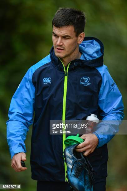 Dublin Ireland 3 October 2017 Jonathan Sexton of Leinster arrives ahead of Leinster Squad Training at Leinster Rugby Headquarters in Dublin