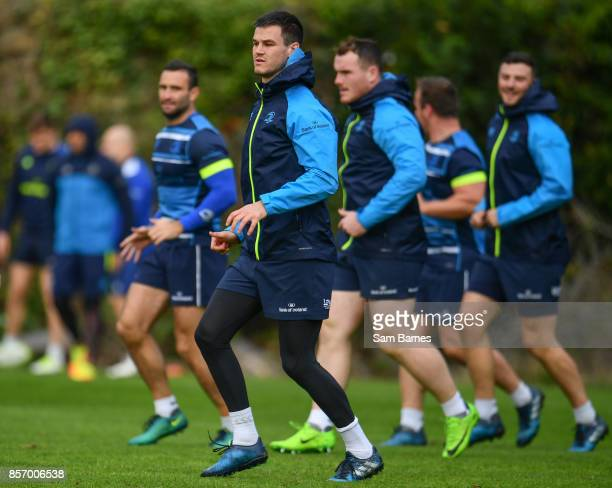 Dublin Ireland 3 October 2017 Jonathan Sexton of Leinster during Leinster Squad Training at Leinster Rugby Headquarters in Dublin