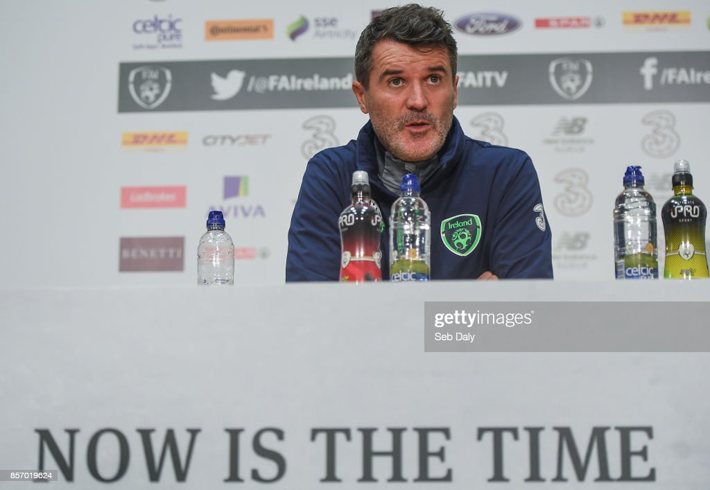Republic of Ireland Squad Training and Press Conference : News Photo