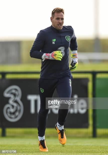 Dublin Ireland 3 October 2017 Republic of Ireland's Rob Elliot during squad training at the FAI National Training Centre in Abbotstown Dublin