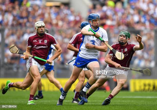 Dublin Ireland 3 September 2017 Austin Gleeson of Waterford in action against Cathal Mannion of Galway during the GAA Hurling AllIreland Senior...
