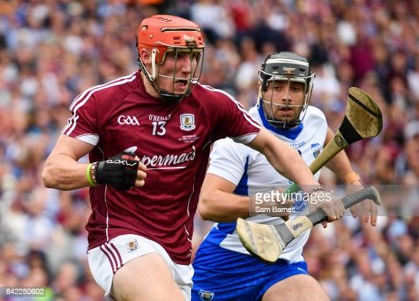 Dublin Ireland 3 September 2017 Conor Whelan of Galway in action against Noel Connors of Waterford during the GAA Hurling AllIreland Senior...