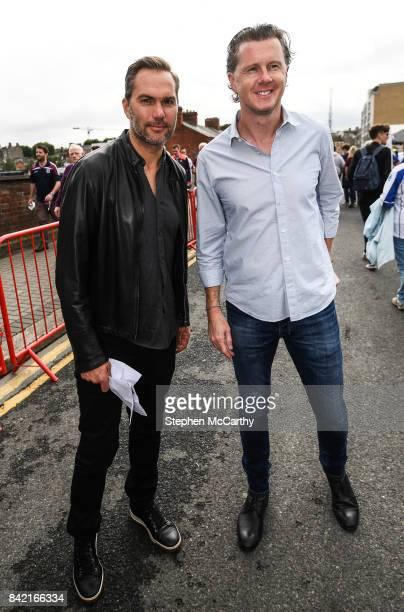 Dublin Ireland 3 September 2017 Former Soccer players Jason McAteer left and Steve McManaman prior to the GAA Hurling AllIreland Senior Championship...