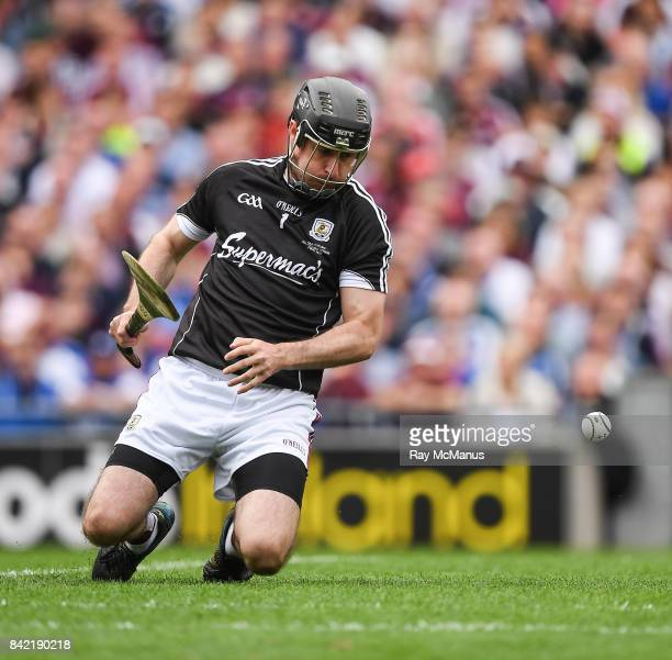 Dublin Ireland 3 September 2017 Galway goalkeeper Colm Callanan is beaten for the second Waterford goal during the GAA Hurling AllIreland Senior...
