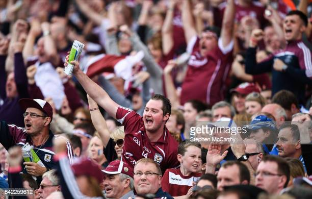 Dublin Ireland 3 September 2017 Galway supporters during the GAA Hurling AllIreland Senior Championship Final match between Galway and Waterford at...