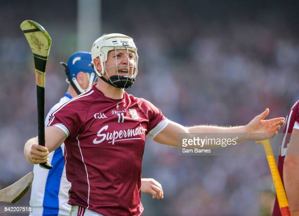 Dublin Ireland 3 September 2017 Joe Canning of Galway reacts after being fouled during the GAA Hurling AllIreland Senior Championship Final match...