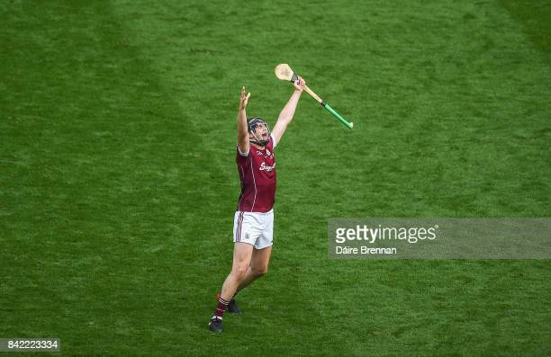 Dublin Ireland 3 September 2017 Joseph Cooney of Galway celebrates at the final whistle after the GAA Hurling AllIreland Senior Championship Final...