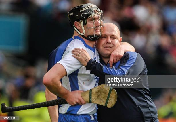 Dublin Ireland 3 September 2017 Pauric Mahony of Waterford and his manager Derek McGrath dejected after the GAA Hurling AllIreland Senior...