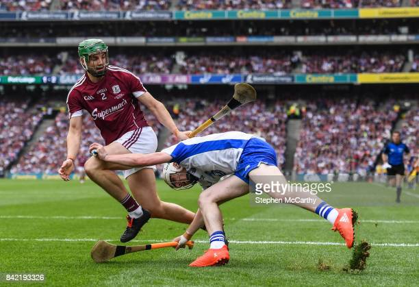 Dublin Ireland 3 September 2017 Shane Bennett of Waterford in action against Adrian Tuohy of Galway during the GAA Hurling AllIreland Senior...
